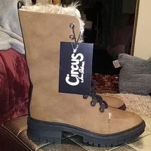NWT Sam Edelman brown faux fur boots